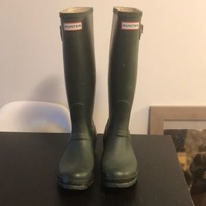 Hunter boots tall size 7F